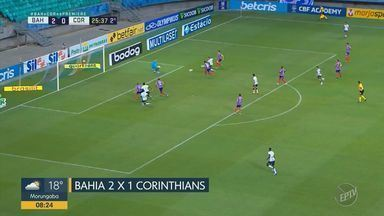 Corinthians perde para o Bahia em jogo na Arena Itaipava, em Salvador - Placar foi de 2 x 0 para o time da casa.