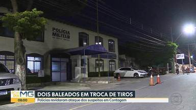 Troca de tiros entre polícia e bandidos termina com dois baleados - Policiais tinham ido verificar uma denúncia de tráfico de drogas.