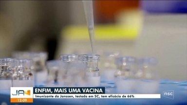 Imunizante da Janssen, testado em SC, tem eficácia de 66%, diz pesquisa - Imunizante da Janssen, testado em SC, tem eficácia de 66%, diz pesquisa