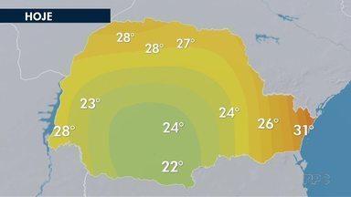 Curitiba terá temperatura elevada no fim de semana - No litoral tem previsão de calor e chuva.