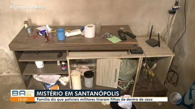 Casal denuncia PM por desaparecimento de filhos em casa na cidade de Santanópolis - Segundo os pais, os policiais militares tiraram filhos de dentro da residência.
