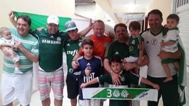 Família descendente de italianos passa o amor pelo Palmeiras de geração para geração - Todos torcem juntos pelo Palmeiras, que vai em busca do segundo título da Libertadores neste sábado.