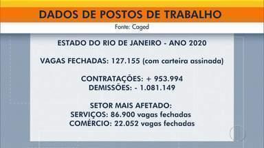 Rio de Janeiro foi o estado com mais postos de trabalho fechados em 2020 no Brasil - Foram mais de 1 milhão de pessoas demitidas.