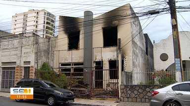 Incêndio é registrado no Centro da capital - Incêndio é registrado no Centro da capital.
