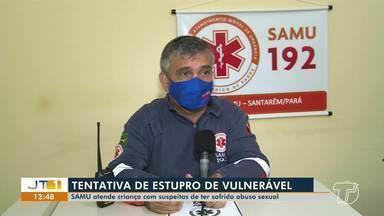 Menina de 10 anos sofre tentativa de estupro na região do Lago Grande, em Santarém - Suspeito fugiu e menina foi agredida fisicamente.