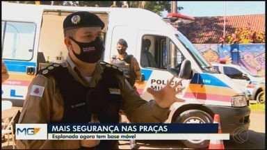 Em Divinópolis, base móvel da Polícia Militar é instalada no Bairro Esplanada - Ao MG1, o coronel Wemerson Lino Pimenta, comandante da 7ª Região da PM, falou sobre as mudanças na segurança que as bases têm proporcionado.