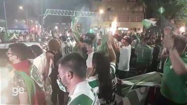 Em Caxias do Sul, torcedores do Juventude festejam o acesso a série A do Brasileirão - Assista ao vídeo.