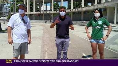 Torcedores estão no Rio de Janeiro para a Final da Libertadores entre Palmeiras e Santos no Maracanã - Torcedores estão no Rio de Janeiro para a Final da Libertadores entre Palmeiras e Santos no Maracanã