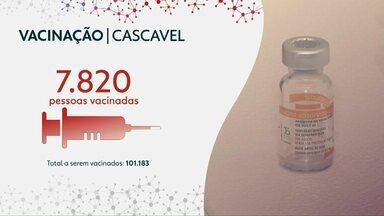 Cascavel já vacinou 7.820 pessoas contra a Covid-19 - Neste fim de semana não terá vacinação.