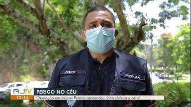 Operação em Miguel Pereira coíbe uso de linha chilena e cerol - Objetivo é preservar a ordem pública e a segurança dos moradores.