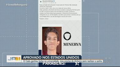 Goiano ganha bolsa de estudos nos EUA, mas precisa de dinheiro para embarcar - Carlos Eduardo é morador de Campos Belos.
