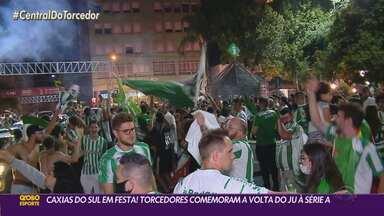 Veja como os torcedores jaconeros comemoraram o acesso do Juventude nesta sexta-feira - Caxias do Sul ficou em festa após o fim do jogo contra o Guarani.