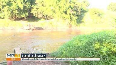 Moradores de Betim reclamam de falta e de qualidade ruim da água - Desde o rompimento da barragem da Vale, em Brumadinho, que contaminou o rio Paraopeba, moradores reclamam que fornecimento tem sido de baixa qualidade.