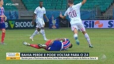 Esporte: Bahia perde para o Fluminense e pode voltar para zona de rebaixamento - Em entrevista, o capitão e zagueiro do Vitoria, Walace fala sobre nova temporada do time.