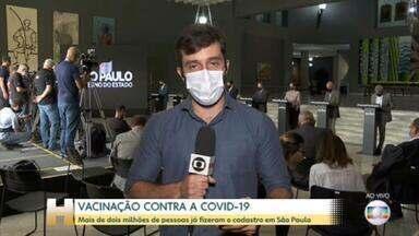 Vacinação contra a Covid-19 em São Paulo - Mais de dois milhões de pessoas já fizeram o pré-cadastro para vacinação.