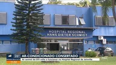 Ar-condicionado central da UTI volta a funcionar no Hospital Regional de Joinville - Ar-condicionado central da UTI volta a funcionar no Hospital Regional de Joinville
