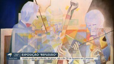 'Em Cena': Obras do estilo cubista são expostas no Shopping Iguatemi até fim de fevereiro - A exposição conta com 50 quadros do artista plástico Paulo Roberto Giavoni que retratam a vida e o ser humano.