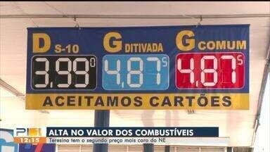 Teresina tem o segundo preço alto de combustível do Nordeste - Teresina tem o segundo combustível mais caro do Nordeste