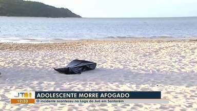 Adolescente morre vítima de afogamento na praia do Juá, em Santarém - A vítima estava em um passeio com a família. Fatalidade aconteceu quando o adolescente brincava com um pedaço de isopor.