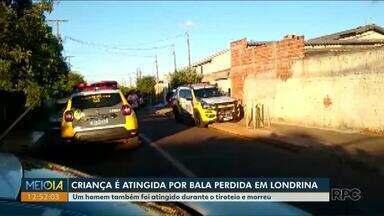 Criança é atingida por bala perdida em Londrina - Um homem também foi atingido durante o tiroteio e morreu.