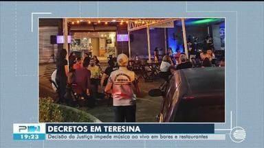 Justiça proíbe música ao vivo em bares e restaurantes em Teresina - Justiça proíbe música ao vivo em bares e restaurantes em Teresina