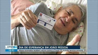 Equipes de imunização fazem mutirão para vacinar idosos acamados, em João Pessoa - Mutirão acontece ate este domingo (7)