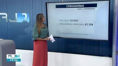Região registra novos óbitos por coronavírus - RJ2 atualiza os números da pandemia na região e no estado.