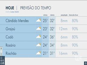 Veja as variações das temperaturas no Maranhão - Confira a previsão do tempo na manhã desta segunda-feira (8) em São Luís e também no interior do estado.