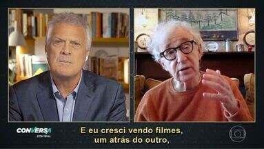 Programa de 08/02/2021 - Pedro Bial entrevista o cineasta americano Woody Allen sobre os momentos mais relevantes de sua vida e trajetória profissional, tendo como fio condutor a autobiografia lançada pelo convidado, no ano passado.