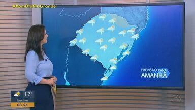 Quarta-feira (10) deve ter chuva em todo o RS; ventos podem chegar a 50km/h no Litoral - Pico da chuva deve acontece na madrugada desta quarta-feira (10).