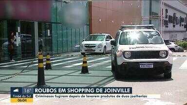 Assaltantes invadem lojas em shopping de Joinville - Assaltantes invadem lojas em shopping de Joinville