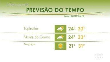 Veja como fica o tempo em algumas cidades do Tocantins neste domingo (14) - Veja como fica o tempo em algumas cidades do Tocantins neste domingo (14)