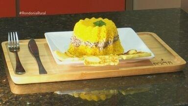 Culinária:Tem flocos de milho, carne de sol, nata e queijo coalho - Veja como preparar a receita de cuscuz recheado.
