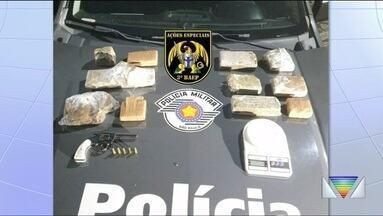 Homem é preso por tráfico de drogas em Taubaté - Ele foi detido com mais de 4 kg de drogas.
