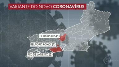 RJ tem quatro casos da variante do coronavírus - O secretário estadual de Saúde, Carlos Alberto Chaves vai dar uma entrevista coletiva hoje sobre a nova variante do coronavírus. O estado já tem quatro casos da nova cepa, que surgiu em Manaus.
