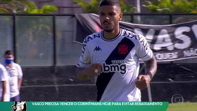 Vasco precisa vencer o Corinthians para evitar rebaixamento - Vasco precisa vencer o Corinthians para evitar rebaixamento