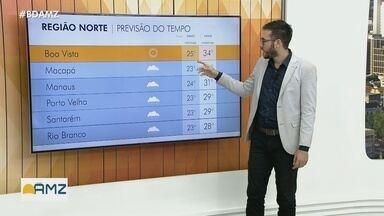 Previsão do tempo: Veja as temperaturas para Região Norte, nesta terça, dia 23 - Previsão do tempo: Veja as temperaturas para Região Norte, nesta terça, dia 23.