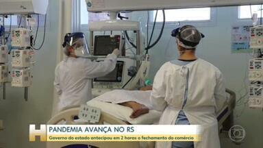 O estado do Rio Grande do Sul enfrenta o pior momento da pandemia - A ocupação dos leitos de UTI destinados a pacientes com Covid em Porto Alegre está em 96%