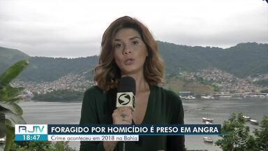 Foragido da Justiça por homicídio na Bahia é preso em Angra dos Reis - Suspeito estava trabalhando como pedreiro em uma obra no bairro Jacuecanga quando foi identificado. Crime aconteceu em 2018, diz polícia.