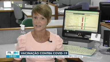 Itatiaia divulga calendário de vacinação contra Covid-19 para idosos de 75 a 79 anos - Nova etapa começa na próxima quinta-feira. Vacinação será feita na Policlínica Municipal, no Centro, das 9h às 16h30.