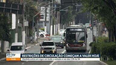 Medidas de restrição mais rígidas entram em vigor no estado de São Paulo - Circulação de pessoas vai ficar restrita entre 23h e 5h.