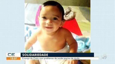 Bebê do Crato com problemas de saúde precisa de ajuda - Saiba mais em g1.com.br/ce