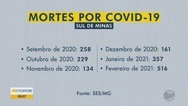 Fevereiro registra maior número de mortes por Covid-19 desde o início da pandemia - Fevereiro registra maior número de mortes por Covid-19 desde o início da pandemia
