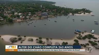 Vila de Alter do Chão, em Santarém, completa 263 anos neste sábado, 6 - Praia de água doce está entre as mais belas do Brasil.