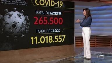 Brasil registra 265.500 mortes causadas pela Covid-19 - Veja os números atualizados da pandemia no Brasil, segundo o consórcio de veículos de imprensa.