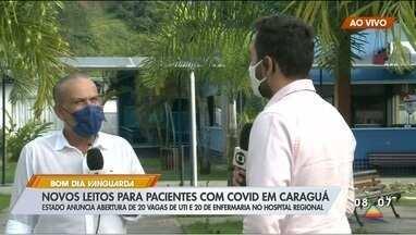 Hospital Regional de Caraguá deve abrir 40 novos leitos para Covid-19 - Medida foi anunciada pelo Estado.