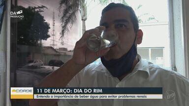 Entenda a importância de beber água para evitar problemas renais - Dia Mundial do Rim é lembrado nesta quinta-feira (11).