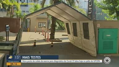 Prefeitura de Porto Alegre amplia testagem de Covid-19 por meio de drive-thru - Operação conta com a parceria da UFCSPA