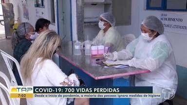 Santarém registra 700 mortes por Covid-19 - Mesmo com número assustador, muitas pessoas ainda ignoram medidas de prevenção.