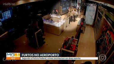 Polícia Federal faz operação contra furtos no Aeroporto Internacional de BH, em Confins - O prejuízo estimado é de mais de R$ 600 mil.